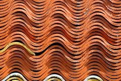 Керамическая текстура крыши. Стоковые Изображения