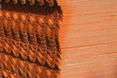 Керамическая текстура крыши. Стоковые Фотографии RF