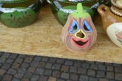 Керамическая тыква хеллоуина Стоковое Изображение RF