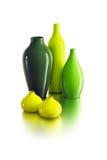 керамические вазы комплекта Стоковые Фотографии RF