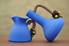 керамические 2 вазы Стоковое Изображение
