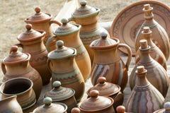 Керамические кувшины глины, посуда стоковые фото