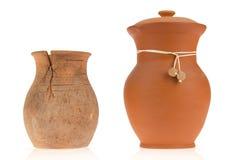 керамические кувшины 2 стоковая фотография rf