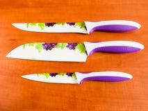 Керамические кухонные ножи Стоковые Изображения