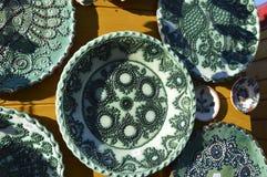 Керамические плиты handmade Стоковые Изображения RF