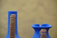 Керамические покрашенные вазы Стоковое Фото