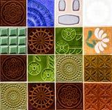Керамические плитки, современная картина в Португалии Стоковые Изображения RF