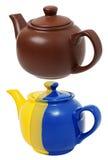 Керамические чайники стоковое фото