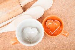 Керамические чашки с резцом печений Стоковые Изображения RF