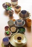 Керамические шары подготовленные для использования для бака комнатного растения Стоковые Фотографии RF