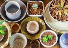 Керамические шары подготовленные для использования для бака комнатного растения Стоковая Фотография RF