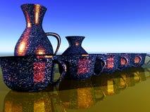 керамический комплект чашки Стоковое Изображение