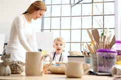 Керамический курс для детей Стоковая Фотография