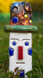 Керамический клоун с Raku изолировал Стоковые Фотографии RF