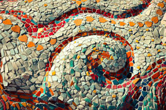 Керамический - мозаика Стоковое Изображение