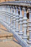 Керамический мост в Площади de Espana в Севилье, Андалусии Стоковая Фотография
