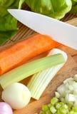Керамический нож с soffritto Стоковые Фотографии RF