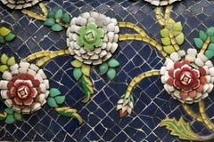 Керамический орнамент цветка Стоковое Изображение RF