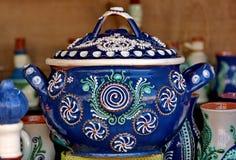 Керамический от Румынии Традиционным гончарня покрашенная румыном стоковые изображения