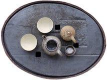 керамический поднос чая змейки кожи комплекта Стоковые Фото