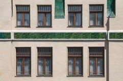 Керамический фасад стоковое фото rf