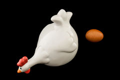 Керамический цыпленок Стоковая Фотография