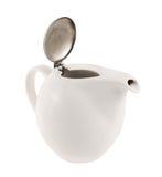 Керамический чайник с металлической крышкой крышки Стоковые Изображения