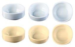 Керамический шар белого, желтый цвет, от различных углов Стоковое фото RF