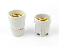 Керамический электрический патрон для электрических лампочек Стоковая Фотография