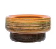 керамическим бак изолированный цветком Стоковые Изображения RF