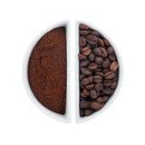 2 керамических плиты с кофе Стоковые Фотографии RF