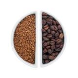 2 керамических плиты с кофе Стоковое фото RF