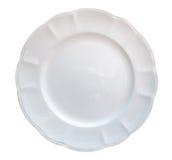 Керамическое взгляд сверху формы цветка плиты изолированное на белой предпосылке, пути клиппирования Стоковое Изображение RF
