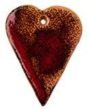 Керамическое сердце Стоковая Фотография