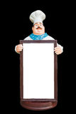 керамическое whiteboard куклы шеф-повара Стоковые Изображения