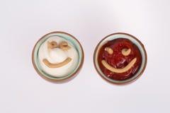 Кетчуп, мустард и майонез. Стоковые Фотографии RF