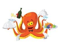 Кельнер осьминога Стоковое Изображение RF