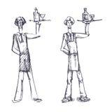 Кельнер Иллюстрация вектора