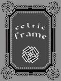 Кельтская рамка элемент дизайна Стоковая Фотография