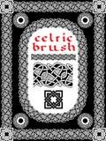 Кельтская щетка для рамки Стоковые Фото