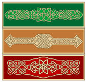 Кельтские орнаменты и картины Стоковая Фотография
