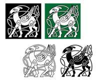 Кельтские олени иллюстрация штока
