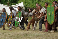 Кельтские ратники Стоковые Фото