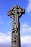 Кельтский крест в ирландском кладбище Стоковая Фотография