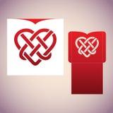 Кельтский узел в форме сердца Шаблон вырезывания лазера Стоковая Фотография