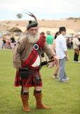 Кельтский человек в костюме Стоковая Фотография