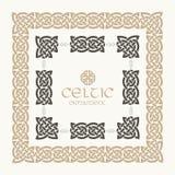 Кельтским заплетенный узлом набор орнамента границы рамки Стоковые Изображения