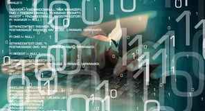 Кибер атака компьютерного хакера, прорубленные компьютеры Стоковая Фотография RF