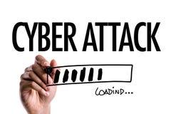 Кибер атака на схематическом изображении стоковое изображение rf