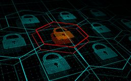 Кибер атака, система под угрозой, нападением DDoS иллюстрация вектора